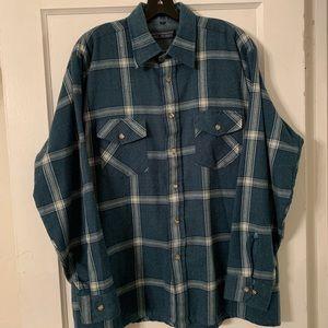 Vintage Mervyn's Winter Weight Wool Flannel Sz L